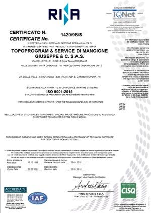 certificato_ISO_2015