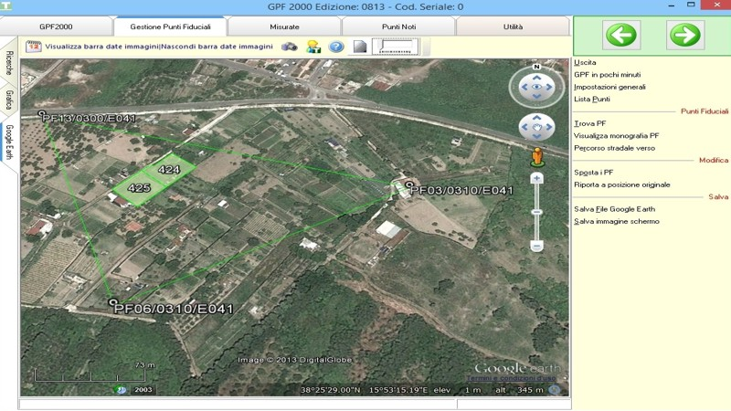 Punti Fiduciali su Google Earth