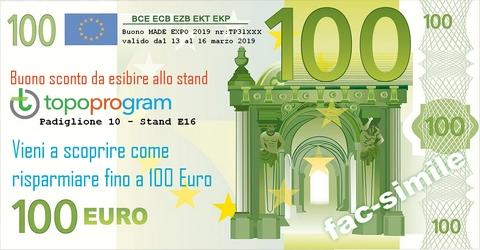 Buono sconto 100euro Topoprogram MADE EXPO 2019