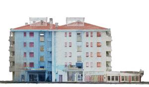 Edificio con condomini - laser scanner - Topoprogram
