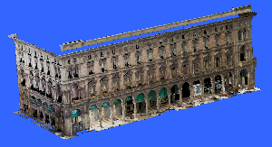 Palazzo piazza duomo Milano - laser scanner - Topoprogram